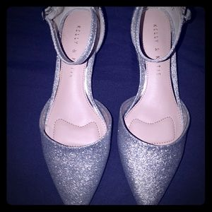 Kelly and Katie silver shoes